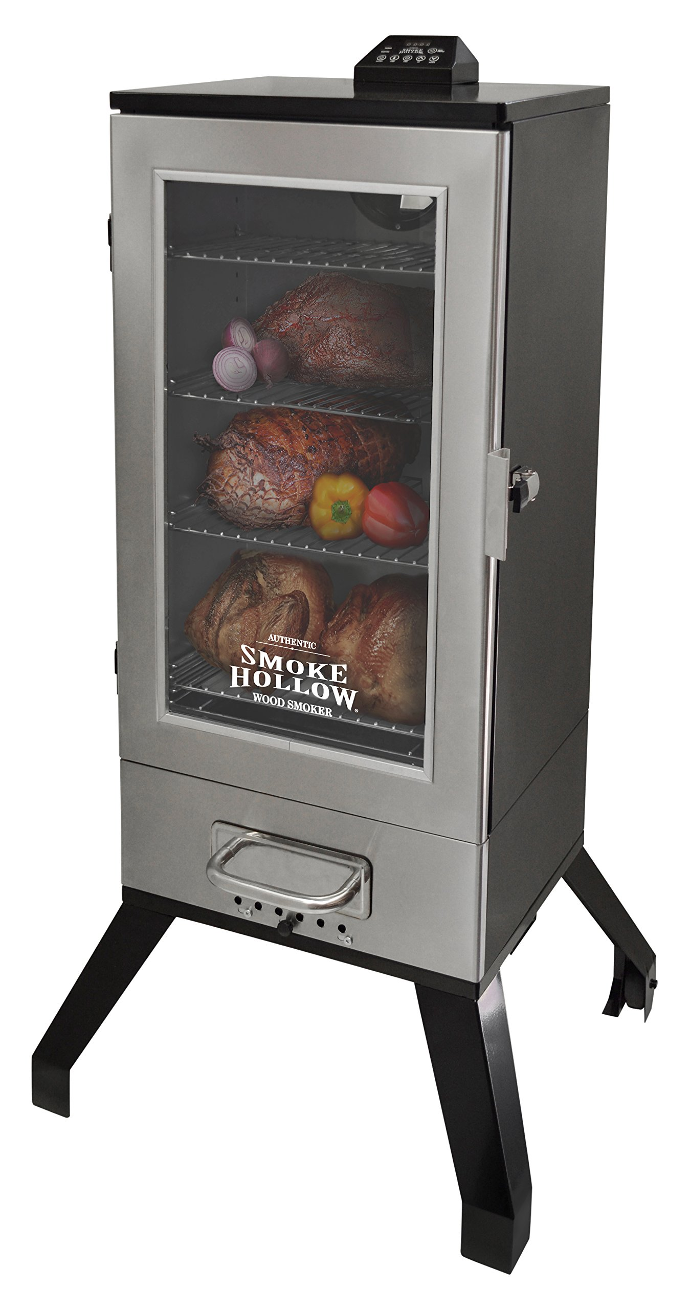 Smoke Hollow 3616DEWS  36-Inch  Digital Electric Smoker with Window, Stainless Steel by Smoke Hollow