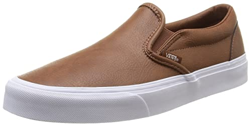 5915098b1d6 Vans - U Classic Slip-On Leather, Sneakers Unisex, Marrone (Leather ...