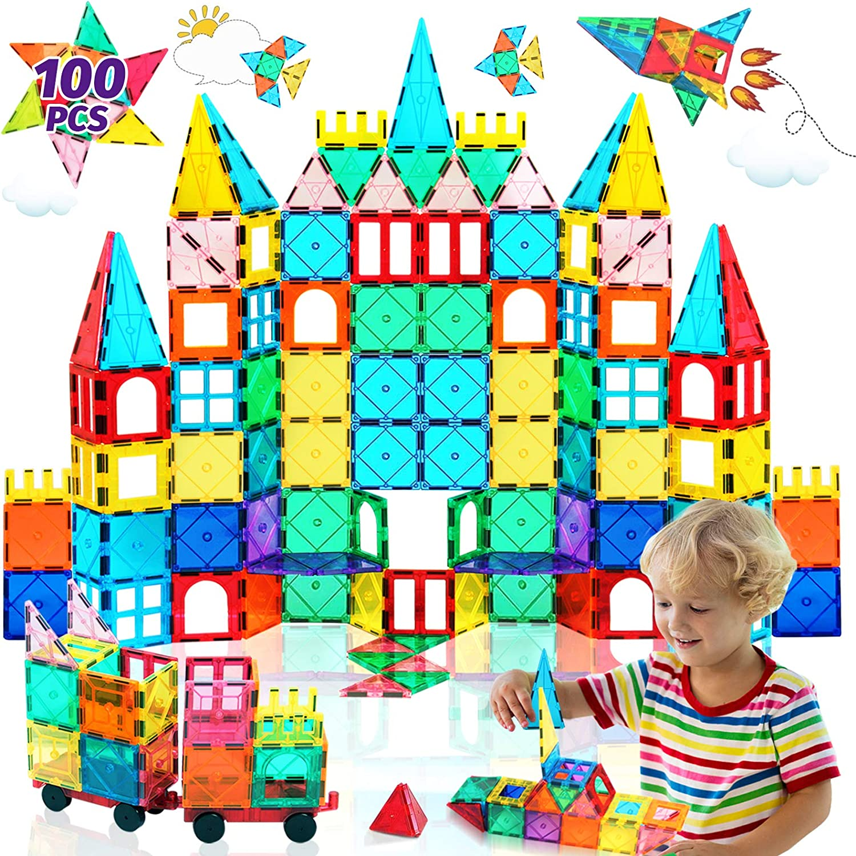 3D Bricks Magnetic Building Construction Blocks Tiles Educational Kids Toy Set