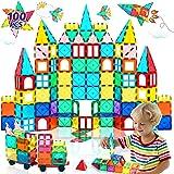 HOMOFY Magnetic Tiles Oversize 3D Building Blocks 100PCS STEM Educational Magnet Toy Set for Kids Creativity&Inspiration Buil