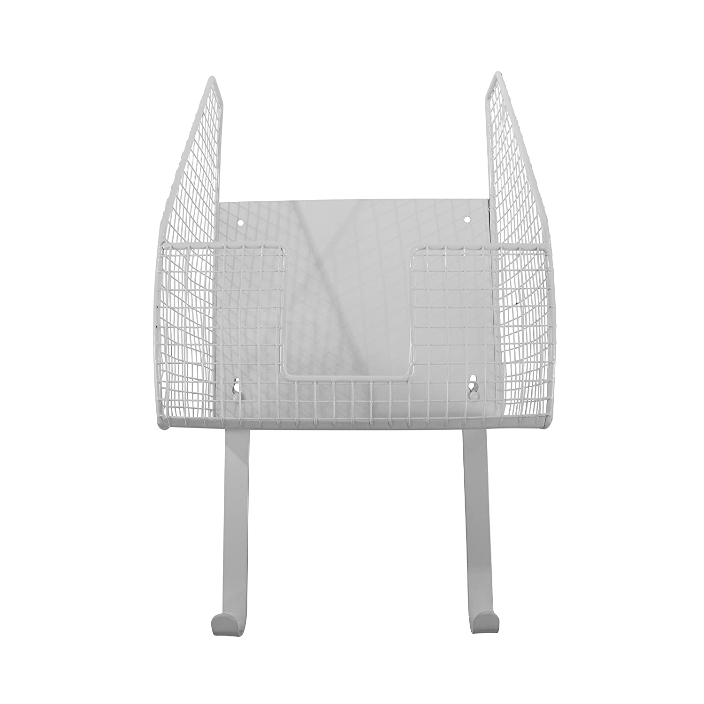 Spectrum Diversified Ironing Board Holder with Storage Basket, Chrome 89375
