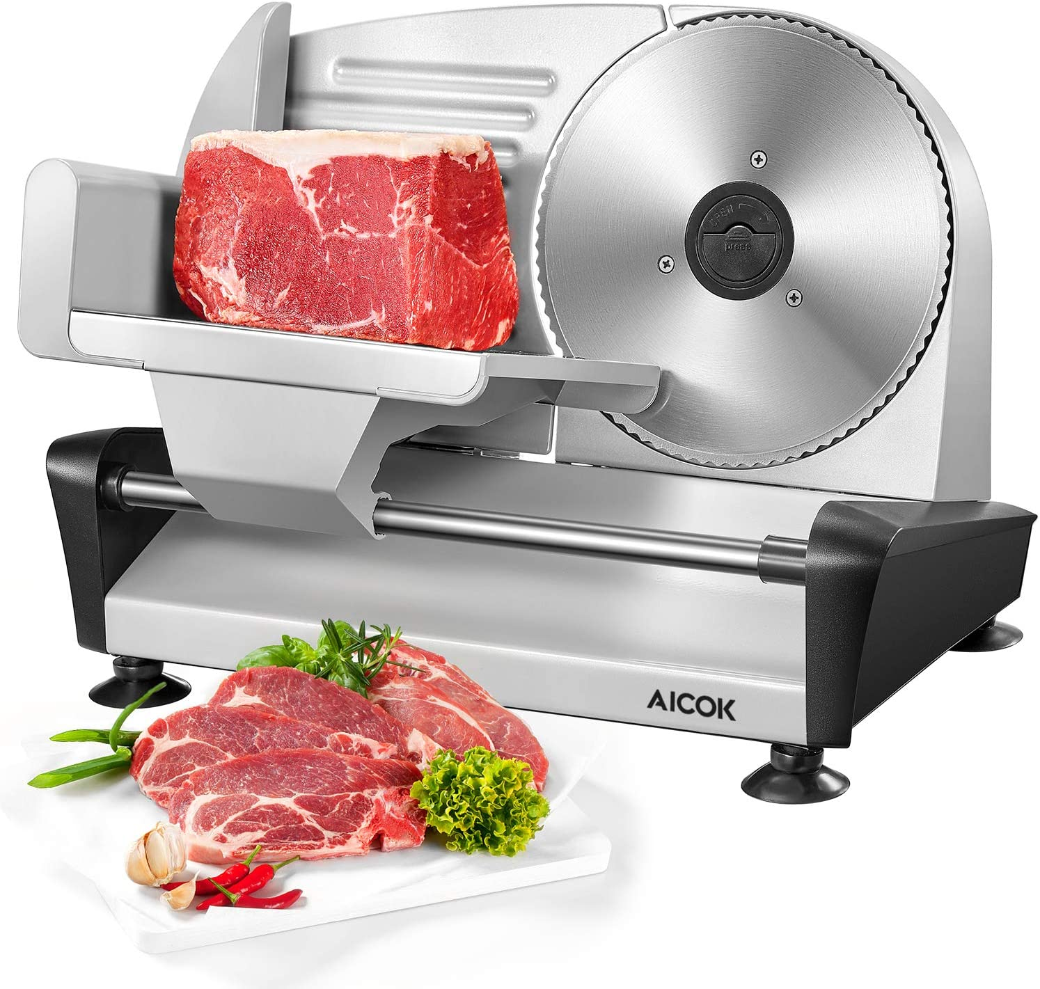 AICOK Meat Slicer Electric Deli & Food Slicer for Home Use, 7.5
