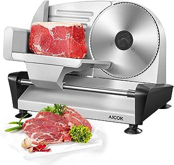 "AICOK Electric Deli 7.5"" Meat Slicer"