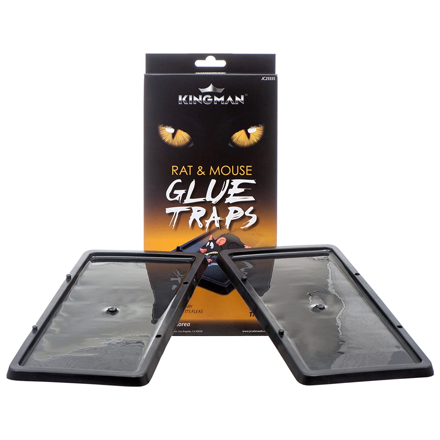 Amazon.com : KINGMAN Mouse Trap Rat Trap Glue Trap/Board (Large Size) (5 Pack / 10 Traps) Rodent Trap Safe Easy Non-toxic : Garden & Outdoor