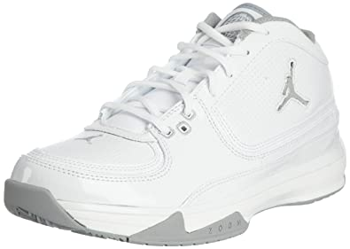 a5896971a22a Image Unavailable. Image not available for. Color  Jordan Team ISO Low  Men s Basketball Shoes White Metallic Silver
