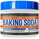 Baking Soda (32 oz (2 lbs)) by Earthborn Elements, Reusable Tub, All-Natural, USP Grade, Antacid, Cooking & Baking, Cleaning & Deodorizing