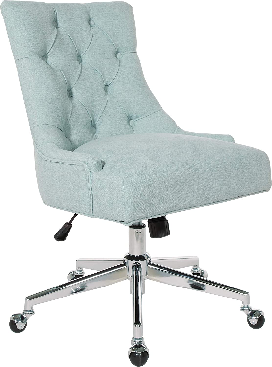 OSP Home Furnishings Amelia Office Chair, Mint