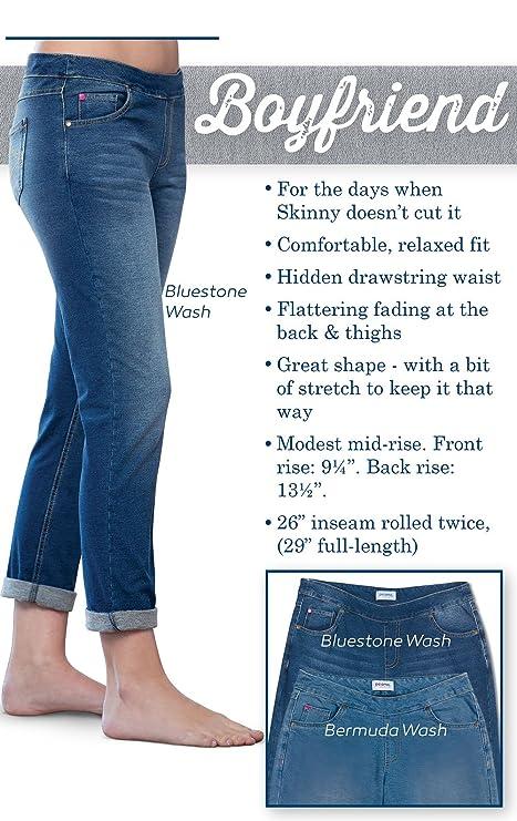 6edaff10c Amazon.com: PajamaJeans Women's Boyfriend Stretch Knit Denim Jeans,  Bluestone Wash, 4X 28W: Clothing