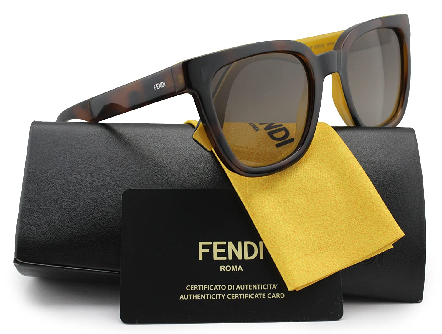 c905bd37a6b0b FENDI FF0121 S Color Flash Sunglasses Havana w Brown Gradient (0MFR) 0121  MFR HA 51mm Authentic  Amazon.co.uk  Clothing