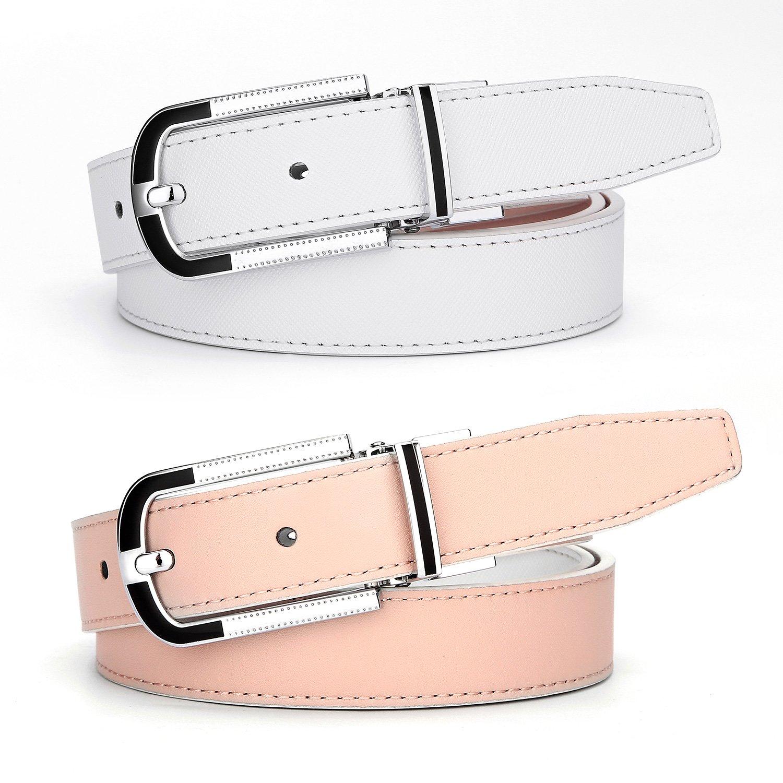 5b15d0834fa0 XIANGUO Ceinture femme réversible en similicuir ceinture exquis ceinture  mode pour jeunesse  Amazon.fr  Vêtements et accessoires