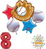 Mayflower Products Baseball 8th Birthday Party Supplies and Balloon Bouquet Decorations