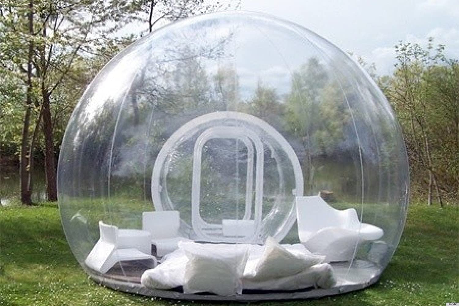 amazon com outdoor single tunnel inflatable bubble tent family