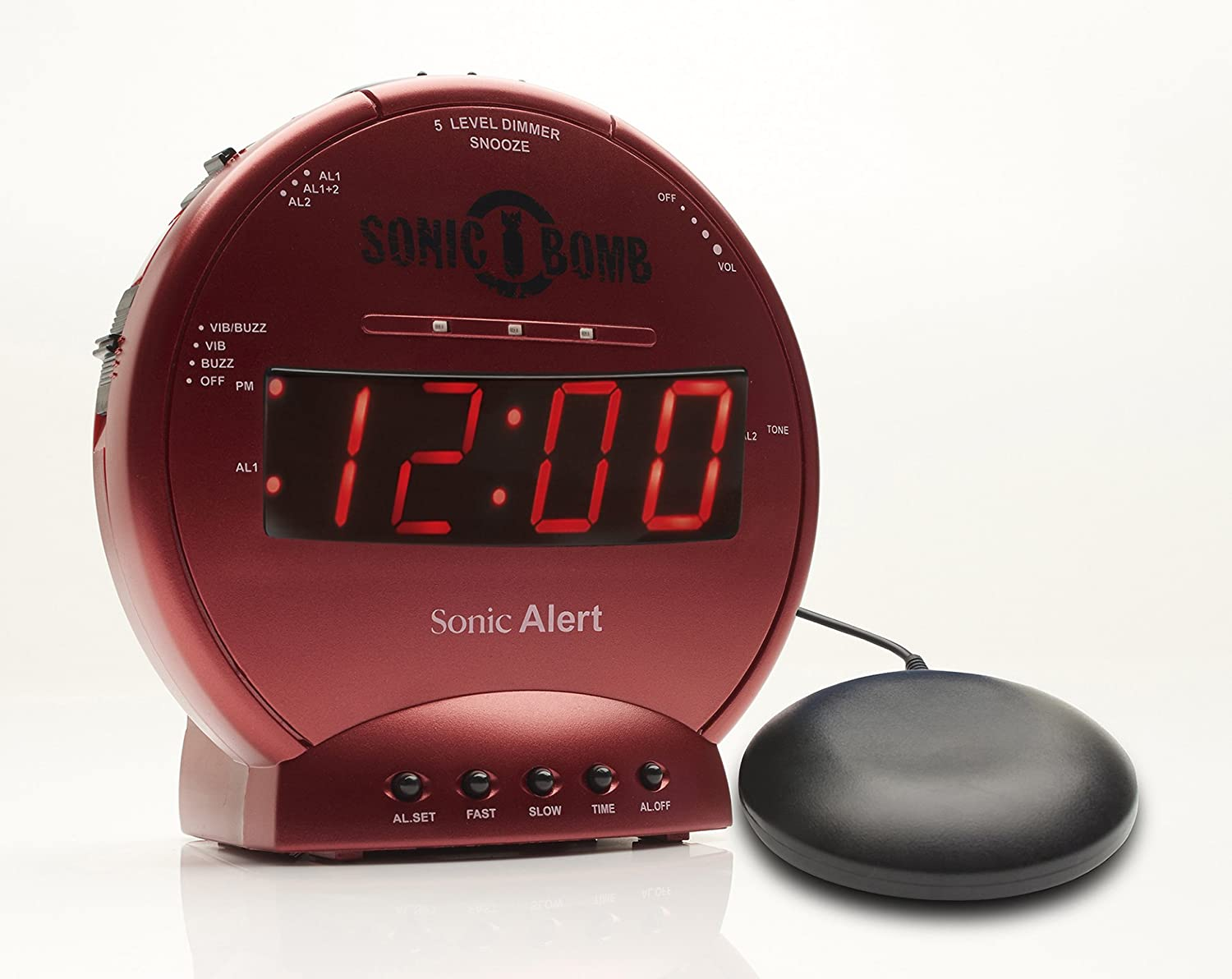 Sonic Bomb Loud Dual Alarm Clock with Vibrating Bed Shaker Turquoise - SBB500SST Sonic Alert