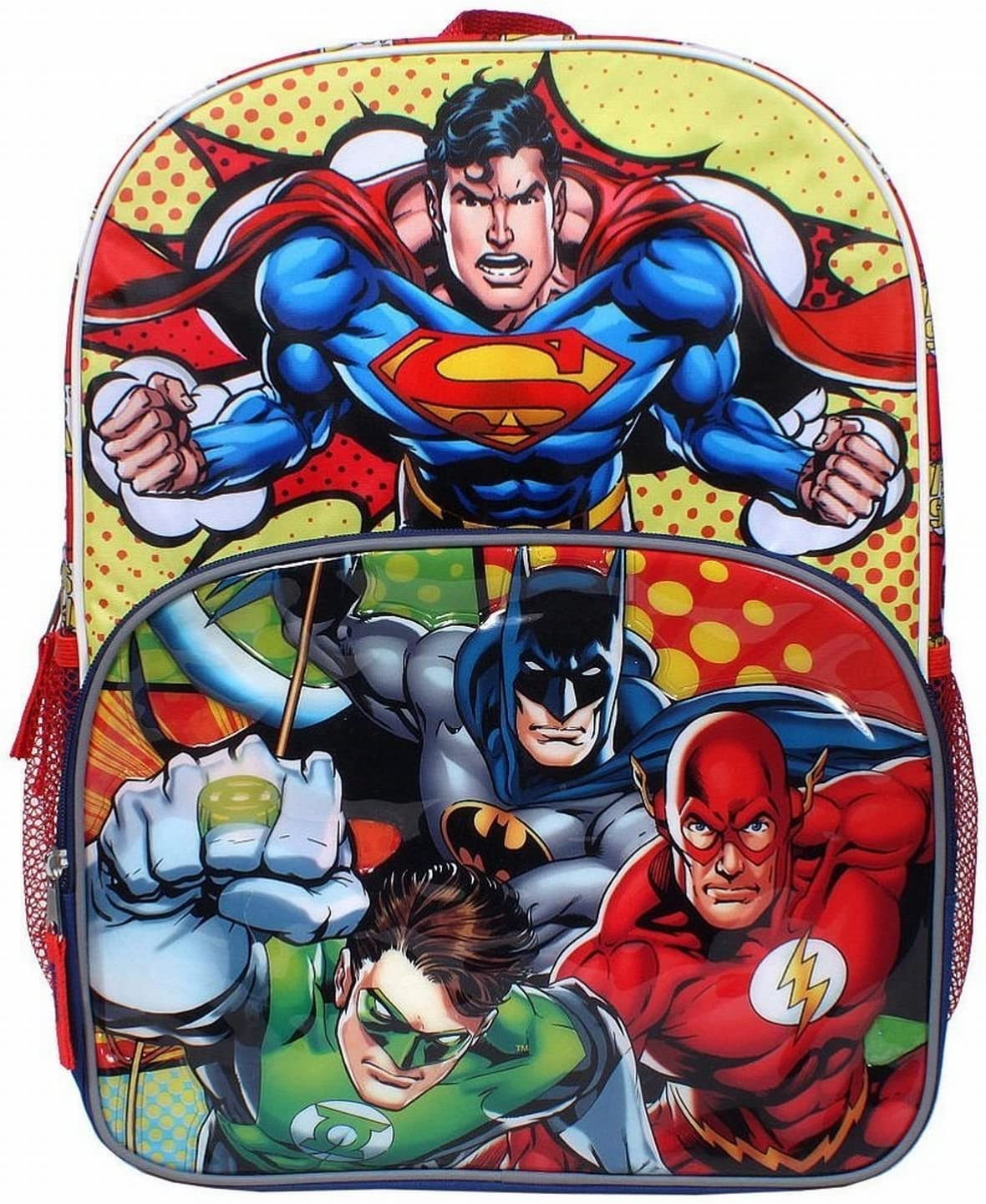 Green Lantern Backpack Justice League Rucksack Logo School Bag Official DC Comic