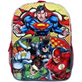 "Justice League 16"" Backpack Large Batman Superman Green Lantern"