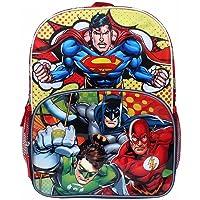 "Justice League 16"" Backpack Large Batman Superman Green Lantern"