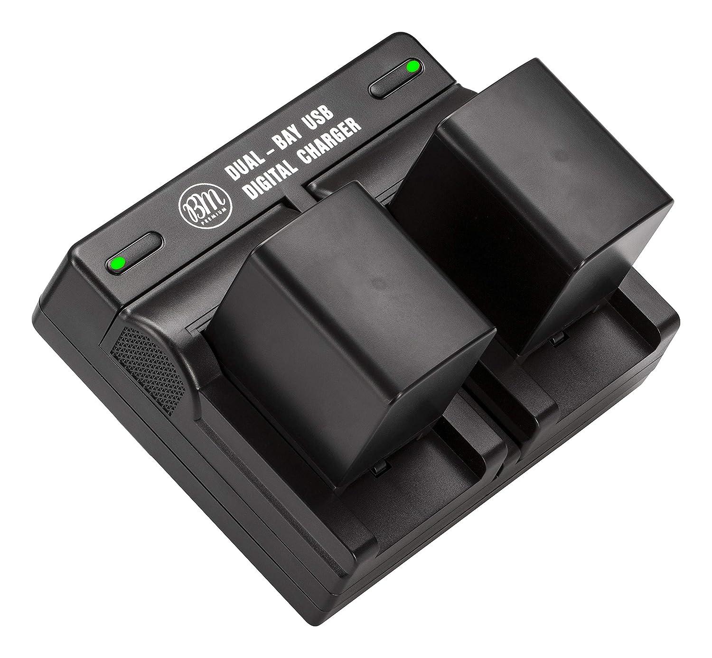 Bmプレミアム2バッテリーBP - 828とデュアルバッテリー充電器for Canon VIXIA gx10、xf400、xf405、hfg20、hfg30、hfg40、hfm30 , hfm31 , hfm32 , hfm300、hfm301、hfm400、hfs30、hfs100、hfs200、xa10 xa20、xa25 B075Z7RVFQ