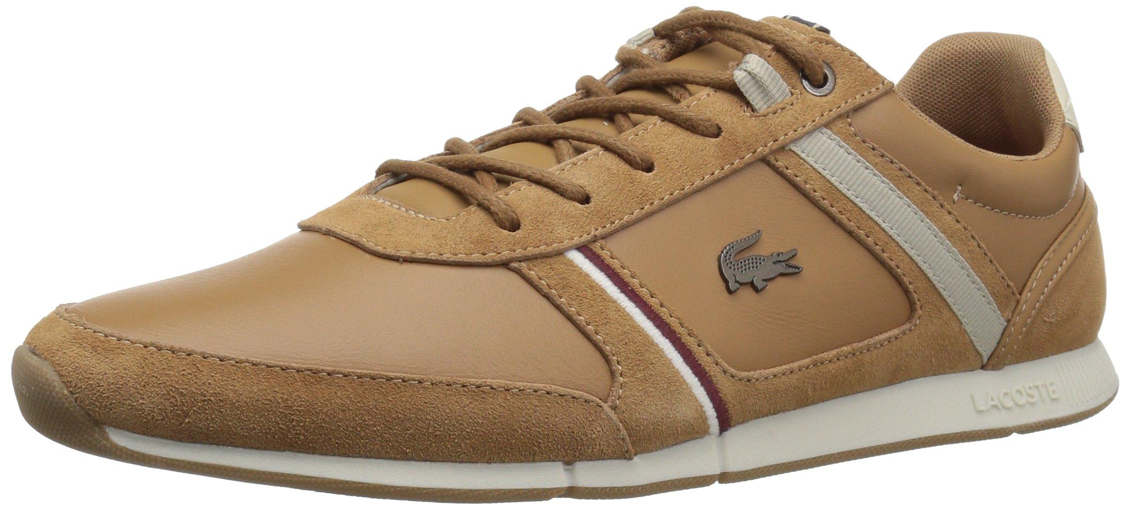 Lacoste Men's Menerva 118 1 Sneaker, Light Brown/Natural, 10.5 M US