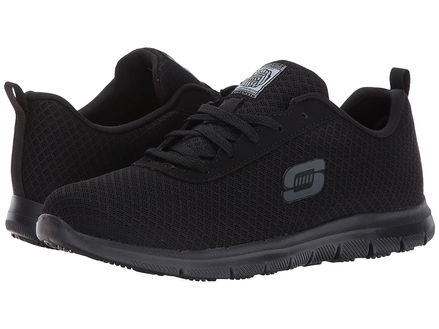 (スケッチャーズ) SKECHERS レディースワークシューズナースシューズ靴 Ghenter Bronaugh [並行輸入品] B07FS5P9YN 5.5 (22.5cm) D Wide|Black Mesh/Water/Stain Repellent Treatment Black Mesh/Water/Stain Repellent Treatment 5.5 (22.5cm) D Wide