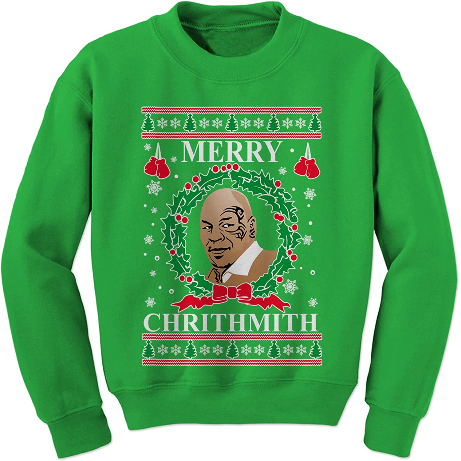 Expression Tees Merry Chrithmith Ugly Christmas Crewneck Sweatshirt 8089-C