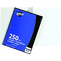 Hilroy Coil 1-Subject Notebook, Wide Ruled, 10.5 X 8 Inches, 3 Hole Punched, 250 Pages, Blue Covers (13223)