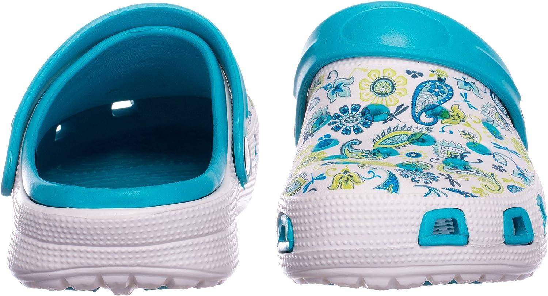 Scarpe da Bagno Sandali Ciabatte Brandsseller Zoccoli Donna Motivo Floreale Pantofole Scarpa Giardino