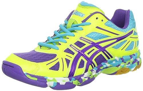 Asics Gel-Flashpoint del b256 N Mujeres Zapatos de Voleibol, Color Amarillo, Talla 43 EU: Amazon.es: Zapatos y complementos