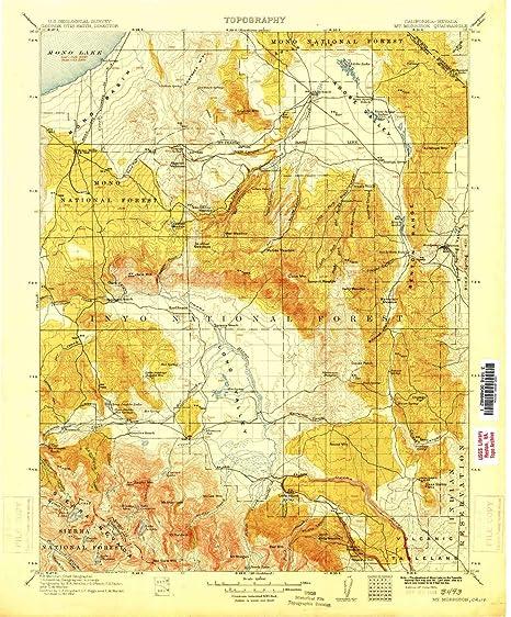 a99b65d62c5b Amazon.com : YellowMaps Mt Morrison CA topo map, 1:125000 Scale, 30 ...