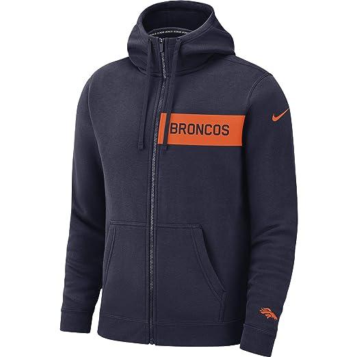 cb89656e Nike Men's Denver Broncos Full Zip Fleece Club Hoodie at Amazon ...