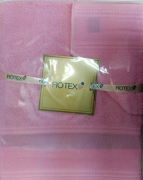 Juego de toallas Para Bordar de 450grs/m2, 100% Algodón Rosa