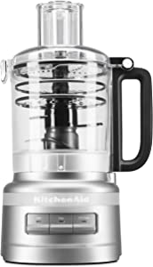 KitchenAid KFP0919CU 9 Cup Plus Food Processor, Contour Silver (Renewed)