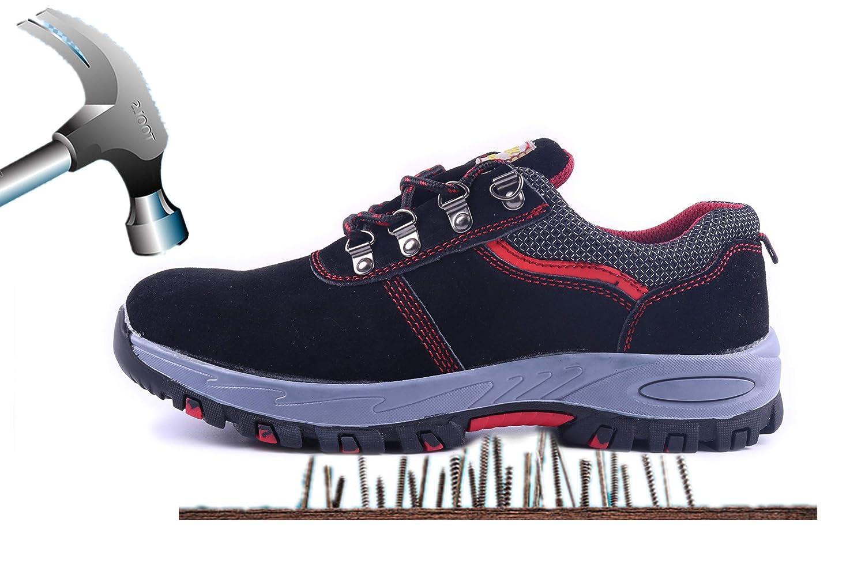 Axcer S3 Scarpe da Lavoro per Uomo Donna Comodissime Traspiranti Scarpe Antinfortunistiche con Punta in Acciaio Calzature da Cantiere Stivali da Escursionismo Scarpe Sneaker Sportive di Sicurezza