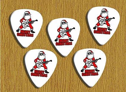 Feliz Navidad 5 x Loose púas de guitarra: Amazon.es: Instrumentos ...