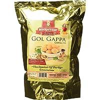 Manyavaar Ready to Fry Panipuri Golgappa Kit Combo, 500g (Pack of 1) with 50g Panipuri Masala (Pack of 2)