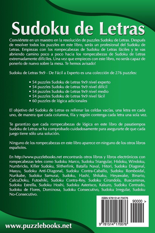 Sudoku de Letras 9x9 - De Fácil a Experto - Volumen 1 - 276 Puzzles: Volume 1: Amazon.es: Snels, Nick: Libros