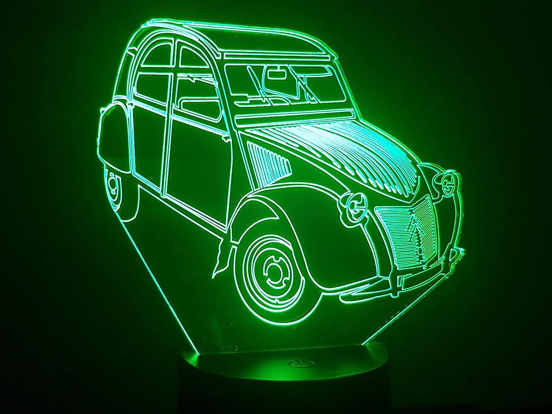 CITROEN 2CV AZ, lampe 3D à LED lampe 3D à LED