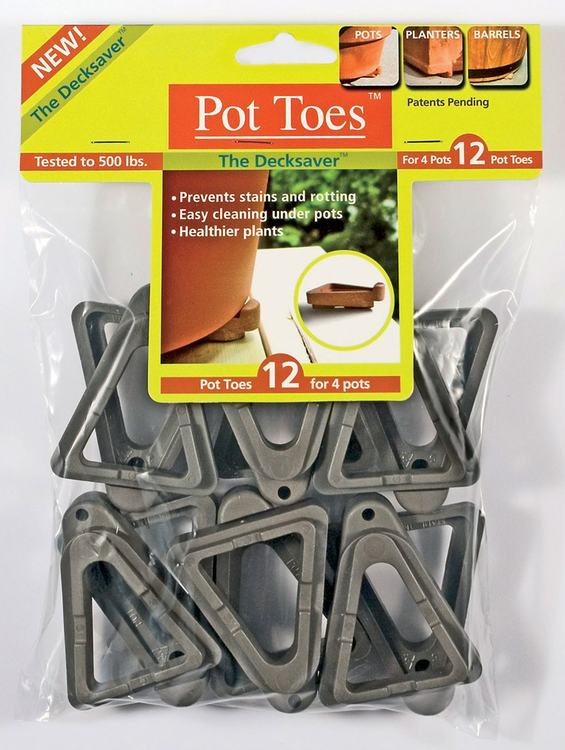 IGC Cartanna Plantstand PT-12CHHT 12-Pack Dark Gray Pot toes by IGC Cartanna