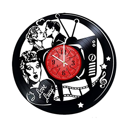I Love Lucy Vinyl Record Wall Clock Get Unique Garage Wall Decor Love Gift Ideas For Friends Teens Rock N Roll Music Unique Art Gift For Girls