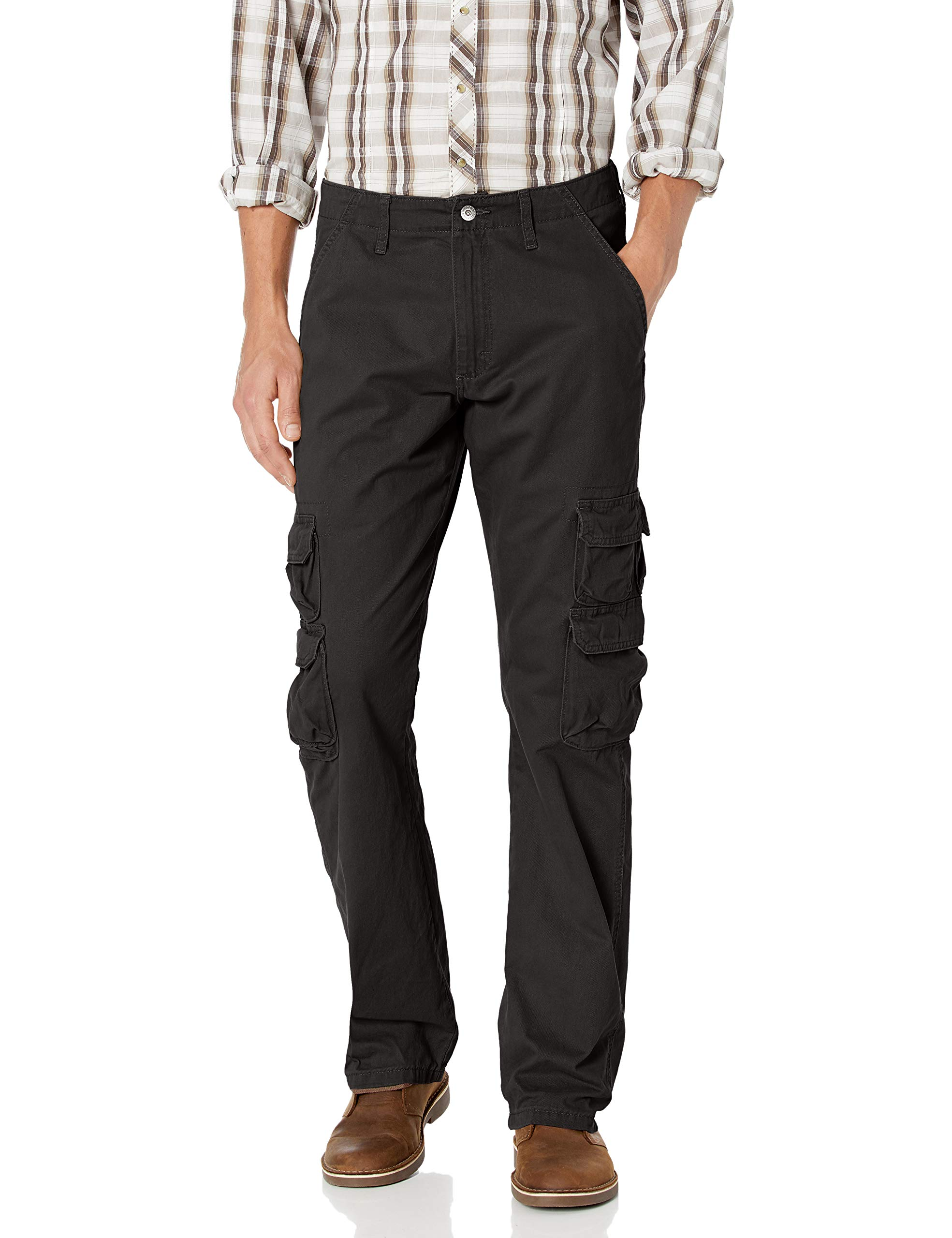 Wrangler Authentics Men's Premium Relaxed Fit Straight Leg Cargo Pant