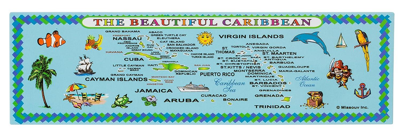 Amazon com: Caribbean Islands Map Metal Souvenir Magnet