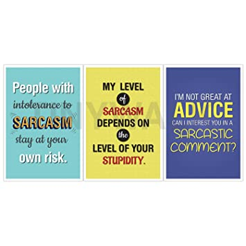 Tinywalk Funny Quotes Non Stick Room Wall Door Posters For Boys Girls Office Kitchen 12x18 Inch Multicolour Set Of 3 Amazon In Home Kitchen