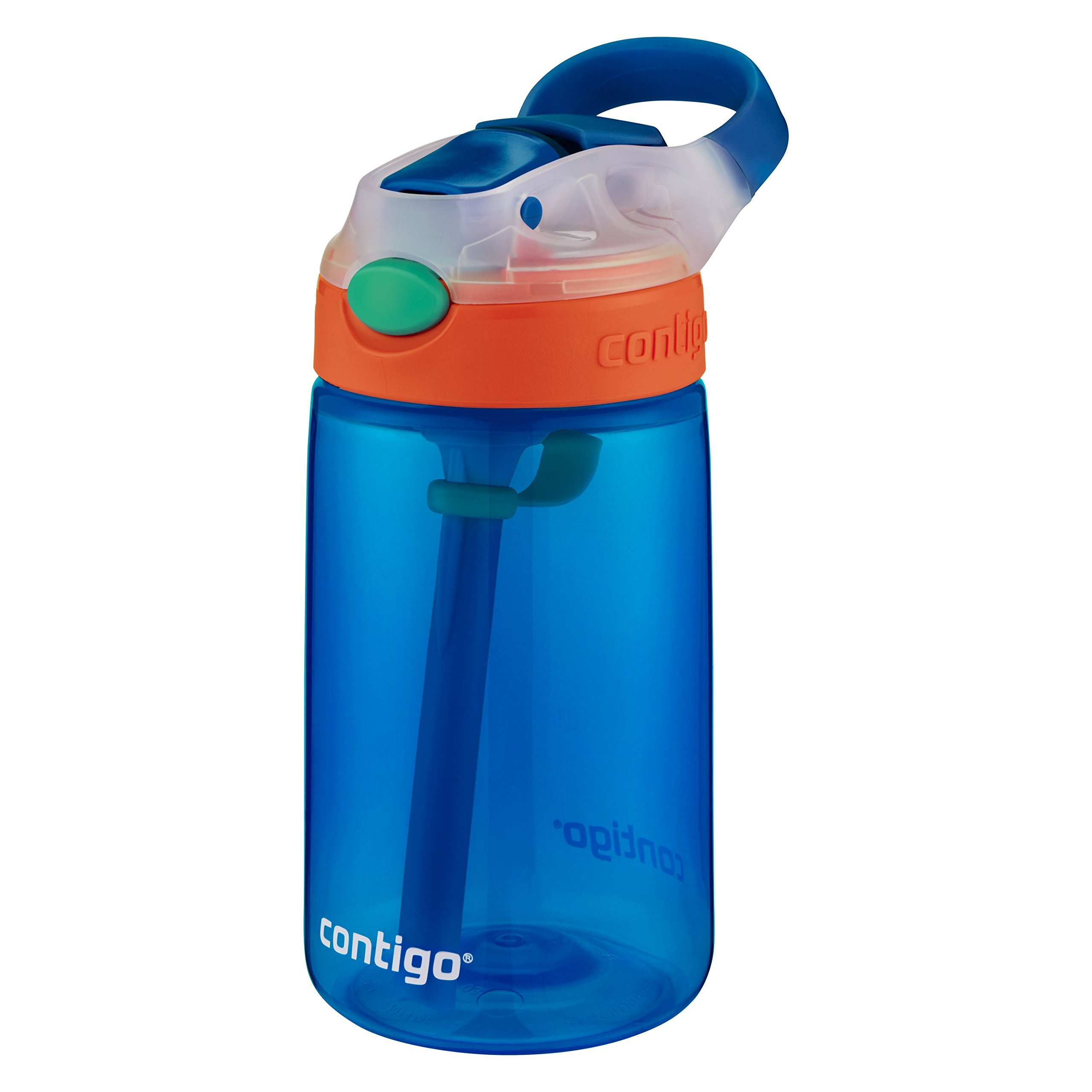 Contigo Kids Gizmo Flip Water Bottles, 14oz, French Blue/Coral, 2-Pack by Contigo (Image #3)