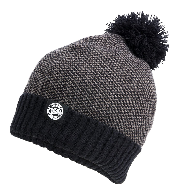 Fox Chunk Bobble Hat Wollmütze Grey/Black Marl