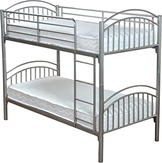 3ft Single Metal Bunk Bed With 2 3ft Mattresses Included Amazon Co