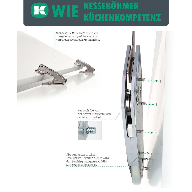 SO-TECH/® FREEfold F4fo Ferrure dabattant relevable pour des armoires de 650-730 mm//poids dabattants 5,8-11,6 Kg