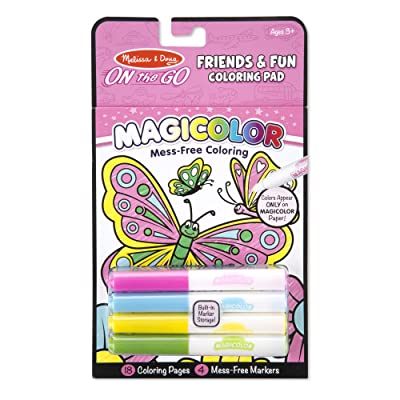 Melissa & Doug On the Go Magicolor Coloring Pad - Friends and Fun (Great Gift for Girls and Boys - Best for 3, 4, 5, 6, 7 Year Olds and Up): Toy: Toys & Games
