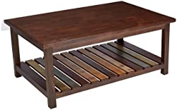 Ashley Furniture Signature Design - Mestler Coffee Table - Cocktail Height - Rectangular - Rustic Brown