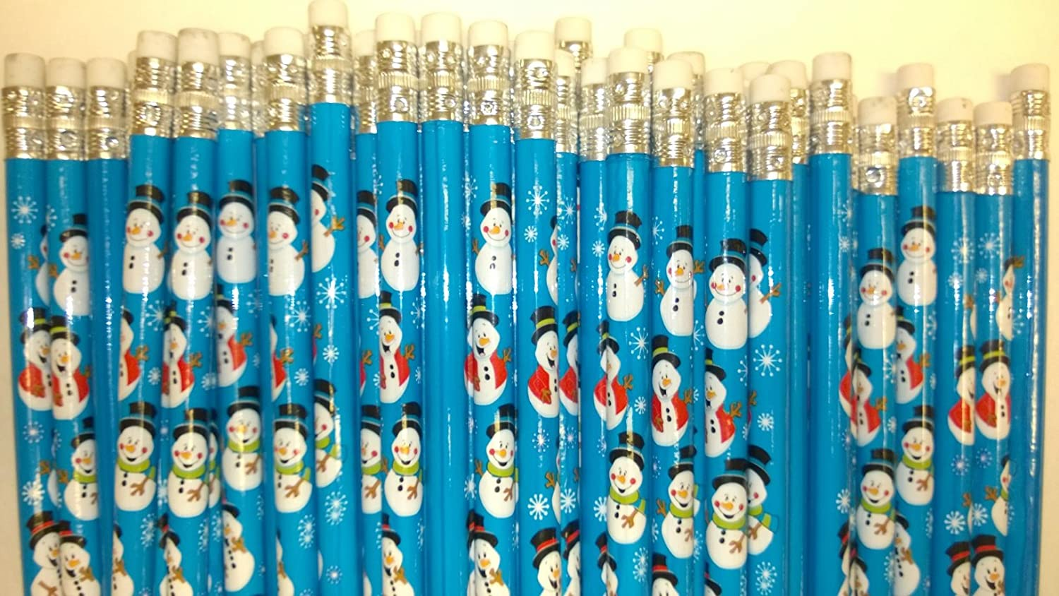 144 Snowman Christmas Holiday Pencils - SNOWMEN PENCILS toyco