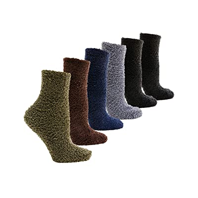 Shycloset Fuzzy Socks Slipper Winter - Women Sleep Indoor Cozy Knit Thermal Soft Plush Fleece Wool Fur Warm Plus at Women's Clothing store