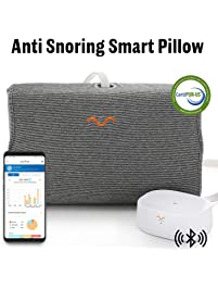 10Minds Motion Pillow, Sleep Tracking Non-Intrusive, Anti-Snoring,CertiPUR-US Memroy Foam, FDA Registered, Cotton USA Cover